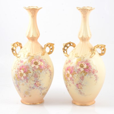 Lot 3 - Pair of Continental earthenware vases