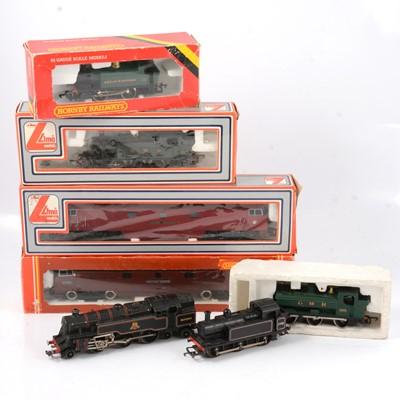 Lot 47 - Hornby and Lima OO gauge model railway locomotives; seven including EDL18 BR 4MT
