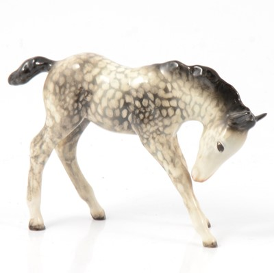 Lot 4 - Beswick Foal (Large, Head Down), model No. 947, rocking horse grey gloss