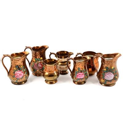 Lot 50 - Quantity of copper lustreware jugs.
