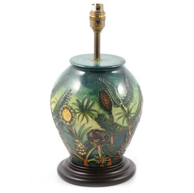 Lot 49A - Moorcroft Pottery lamp base, pine cone design