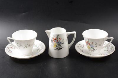 Lot 8 - Two bone china tea sets, Wedgwood and Heathcote China
