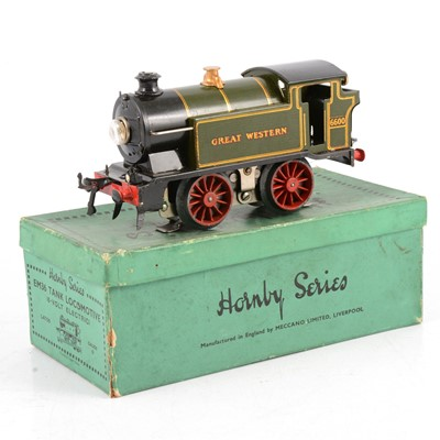 Lot 16 - Hornby O gauge model railway electric locomotive; EM36 tank locomotive