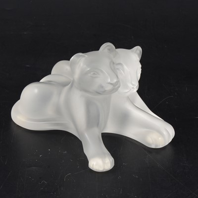 Lot 1022 - Lalique Crystal, Lambwee, a frosted glass ornament