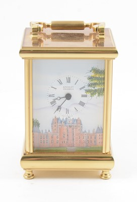 Lot 99 - Modern carriage clock, by Kingsley Enamels