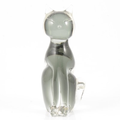 Lot 12 - Murano glass model of a seated cat