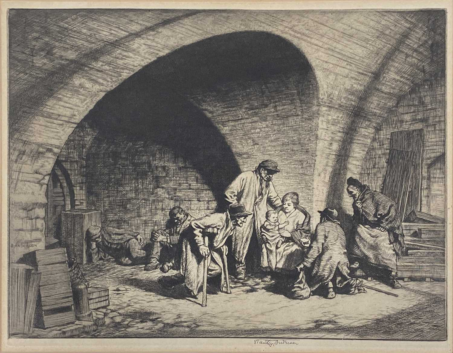 Lot 1025 - Stanley Anderson, Life under the arches