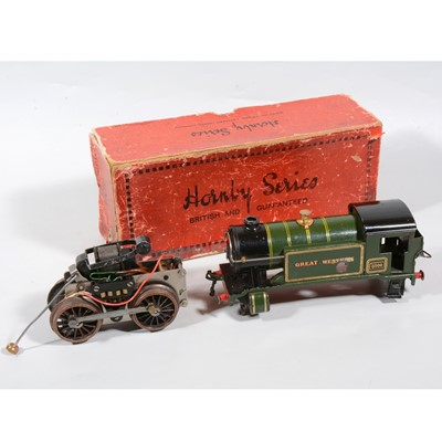 Lot 33 - Hornby O gauge 20v motor and chassis and body shell for no.1 Special tank locomotive GW 5500