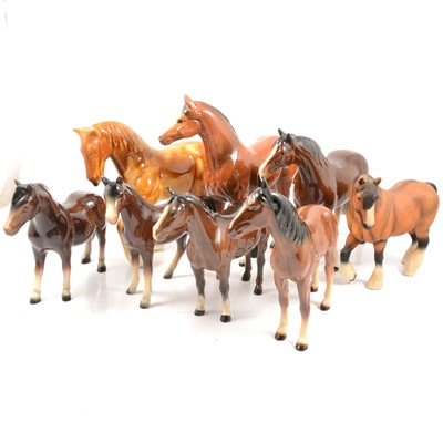 Lot 6 - Sixteen Beswick and other horse models