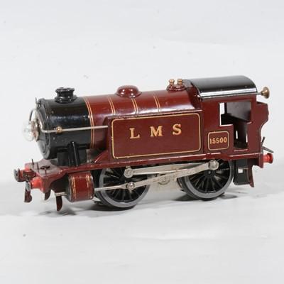 Lot 12 - Hornby O Gauge electric model railway tank locomotive, E120 no.1 Special, 0-4-0, LMS maroon.