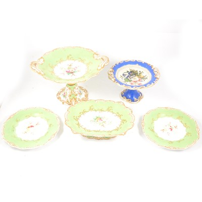 Lot 77 - Victorian bone china dessert service