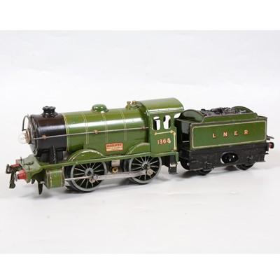 Lot 26 - Hornby O gauge model electric locomotive and tender, Special no.1, E120, LNER 0-4-0