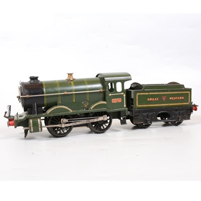 Lot 16 - Hornby O gauge locomotive and tender, converted to electric no.1 Special, GW 0-4-0, 2301.