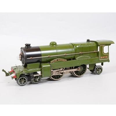 Lot 18 - Hornby O gauge model electric railway locomotive, E320, LNER 4-4-2, 4472, 20v, (no tender).