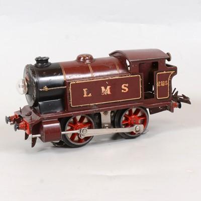 Lot 8 - Hornby O gauge electric model railway locomotive, E120, LMS 0-4-0, 2115, maroon, 20v.