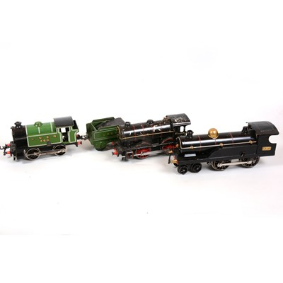 Lot 23 - Three Hornby O gauge electric model railway locomotives, all converted to electric.