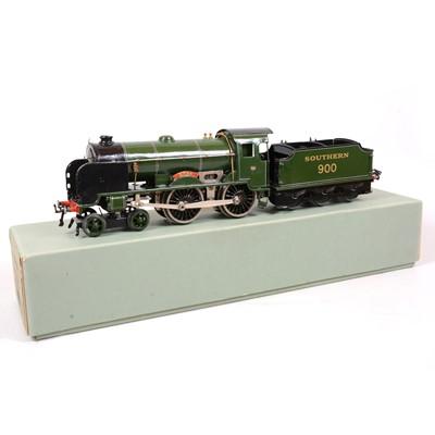 Lot 7 - Hornby O gauge electric model railway locomotive and tender, E420, 4-4-0 'Eton'