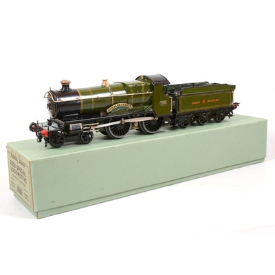 Lot 2 - Hornby O gauge electric locomotive and tender, E220 Special, GW 4-4-0 'County of Bedford'