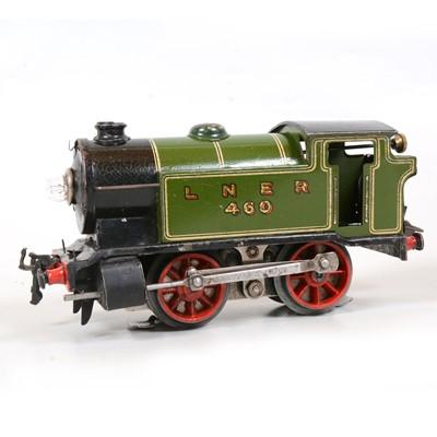 Lot 27 - Hornby O gauge electric tank locomotive, LNER 0-4-0T, 460, green, 20v.