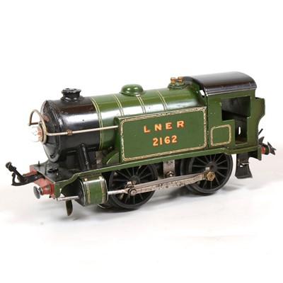 Lot 19 - Hornby O gauge tank locomotive, E120 no.1 Special, LNER 0-4-0, 2162, green.