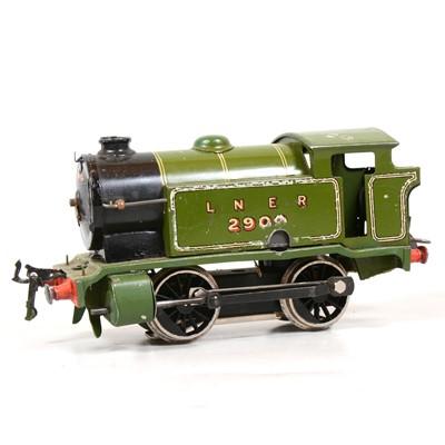 Lot 15 - Hornby O gauge electric tank locomotive, LNER 0-4-0, 2900, converted