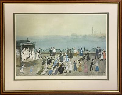 Lot 1073 - Helen Bradley, Walmsley's Pierrots on Blackpool Pier