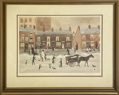 Lot 1071 - Helen Bradley, Snowman