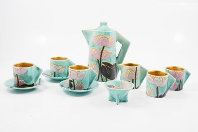 Lot 1020 - Clarice Cliff, an 'Inspiration Lily' part coffee service