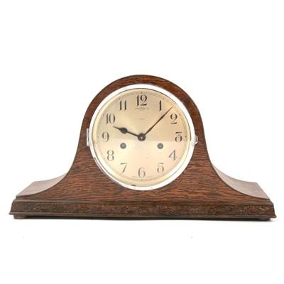 Lot 98 - James Walker oak cased Napoleon style mantel clock, Enfield movement.
