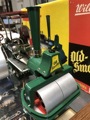 Lot 1 - Wilesco, Germany D36 live steam roller 'Old Smoky', boxed.