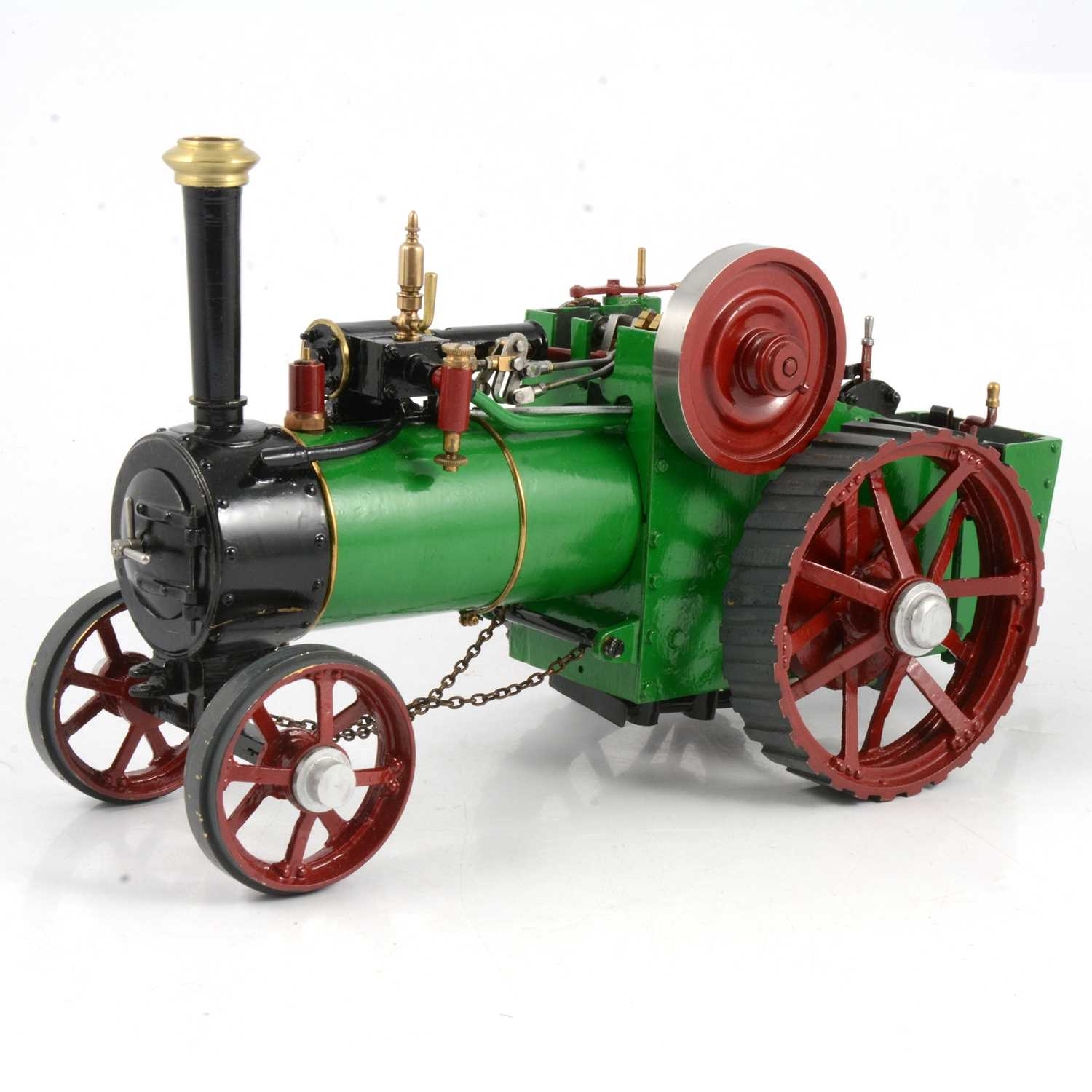 Lot 2 - A ¾in scale model live steam traction engine, Burrell-type, 40cm