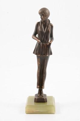 Lot 1014 - Josef Lorenzl, an Art Deco sculpture of a lady