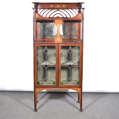 Lot 1005 - An English Art Nouveau cabinet, in the manner of Shapland and Petter of Barnstaple