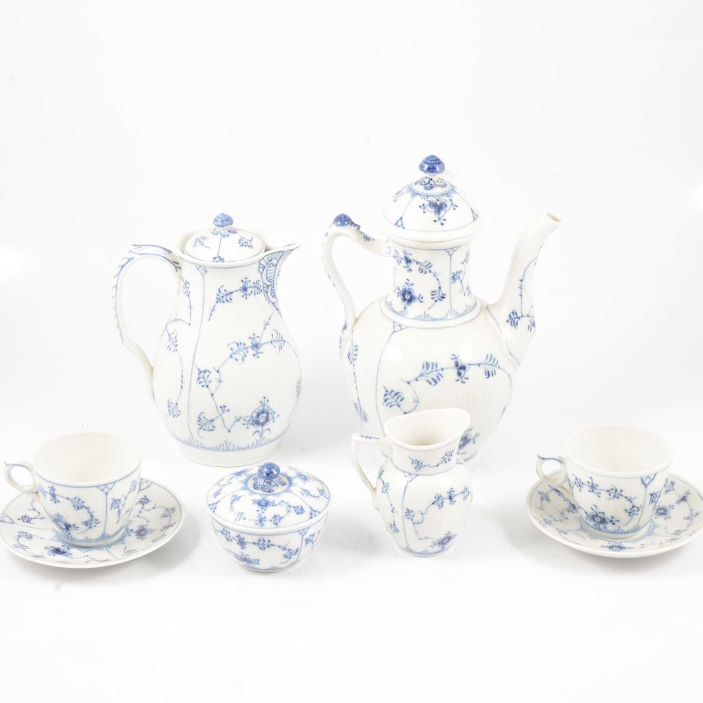Lot 44 - Royal Copenhagen blue and white coffee set