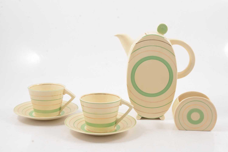 Lot 1019 - Clarice Cliff, an Art Deco Bonjour part coffee set