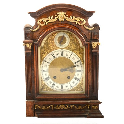 Lot 101 - Walnut mantel clock, damaged