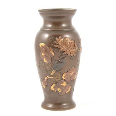 Lot 90 - Japanese bronze vase, Meiji period