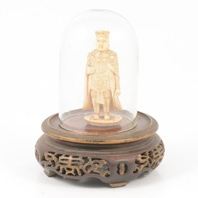 Lot 91 - Chinese carved ivory chess piece, with stand and dome
