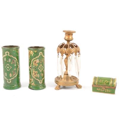 Lot 75 - Limoges porcelain box, etc