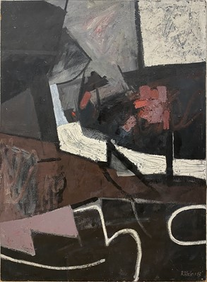 Lot 1119 - Roy Bizley, Dark Landscape, 1963