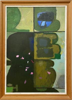Lot 1129 - Roy Bizley, Green abstract from the Terrace series, 1981
