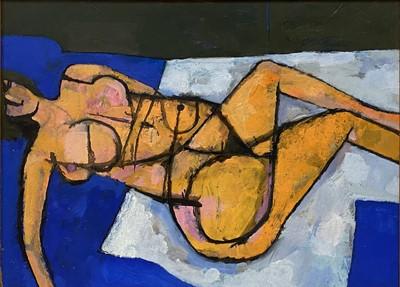 Lot 1121 - Roy Bizley, Reclining female nude