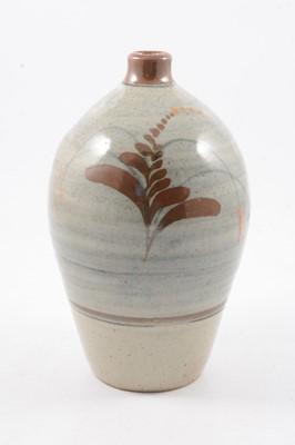 Lot 1045 - David Leach, a Lowerdown Pottery stoneware vase with foxglove motif