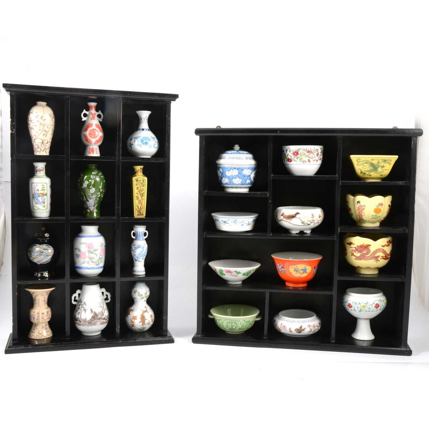 Lot 57 - Heritage Collection set of miniature Chinese ceramics