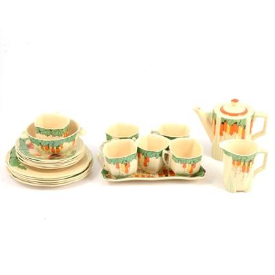 Lot 77 - A 1930s Royal Doulton Art Deco tea service, Maybells