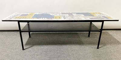 Lot 1064 - John Piper for Terence Conran, a 'London Skyline' coffee table, 1950s