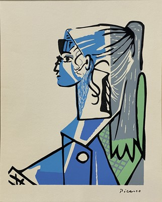 Lot 1052 - Pablo Picasso, Sylvette David in Green chair