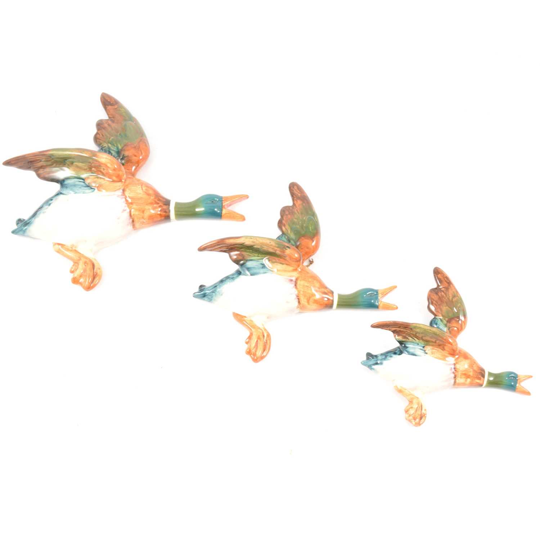 Lot 4 - Set of three Beswick wall mounted flying ducks.
