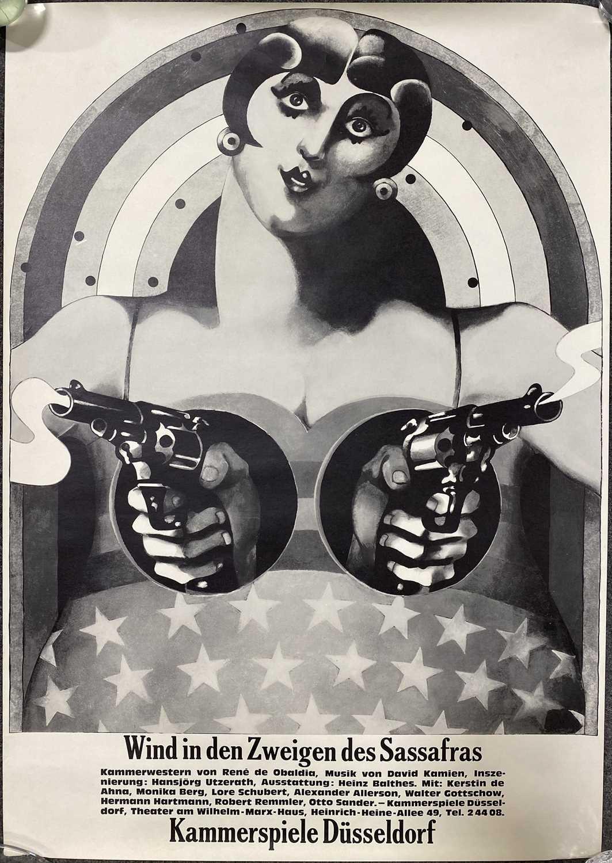 Lot 1049 - Heinz Edelmann, German theatre poster 'Wind in den Zweigen des Sassfras'