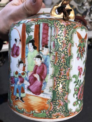 Lot 13 - Chinese famille rose tea kettle
